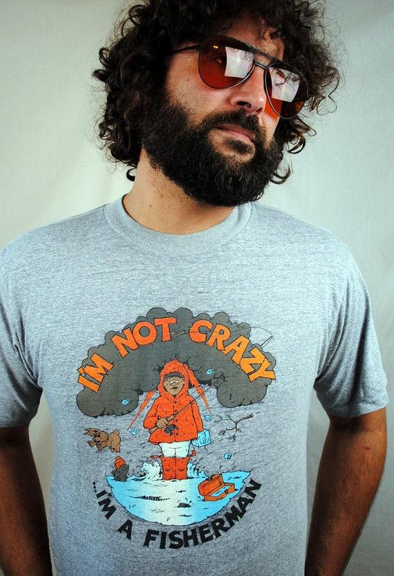 Vintage 1980s Funny Fishing Tee Shirt