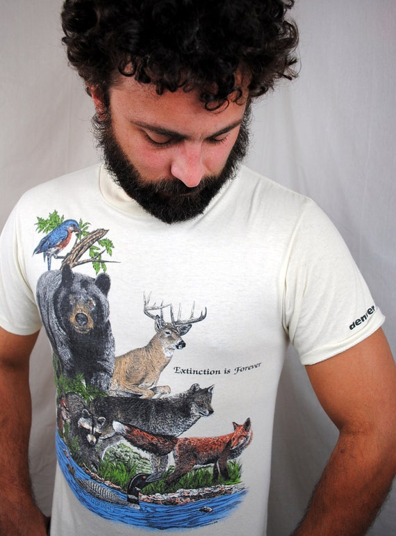 Vintage Animal Extinction Tee Shirt - Denver Zoo
