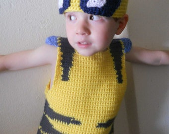 Wolvie *inspired* Vest with Hat and Gloves Halloween Costume Crochet Pattern size 2T-5T