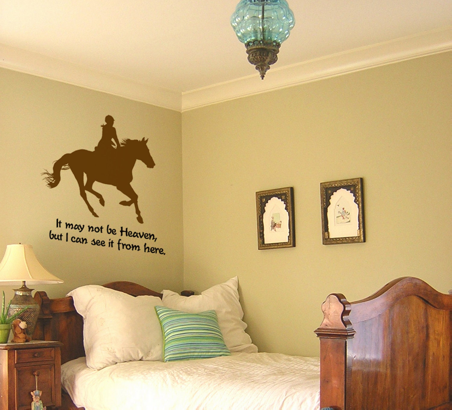 Wall Decals Quotes: Horse Decal-Horse Quote Decal-Vinyl Wall Sticker-Horse Wall