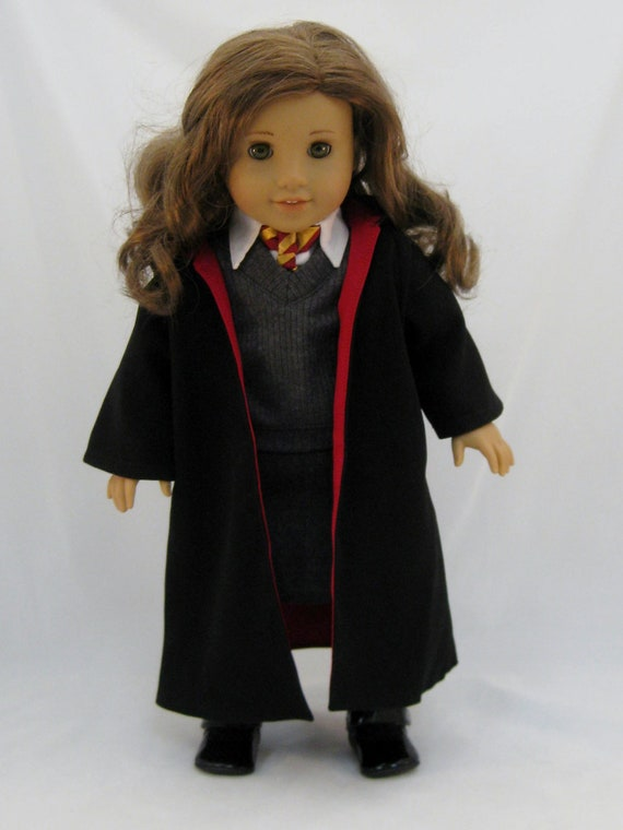 American Girl Doll Sized Girl Wizard Costume With Wand