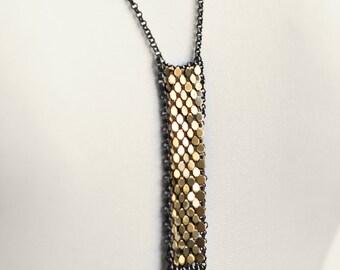 Mesh Bar Necklace - Framed Mesh Elements