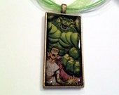 The Incredible Hulk Bruce Banner Necklace, Hand Poured Resin Pendant - FREE SHIPPING