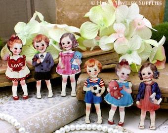 6pcs Handmade Lovely Children Charms / Pendants (CWM01)