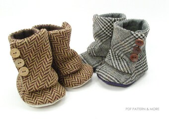 no 94 Toddler 3 Button Boots PDF Pattern