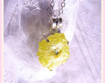 Sunshine Quartz - Stalactite Crystal - Sterling Necklace  DC 8193