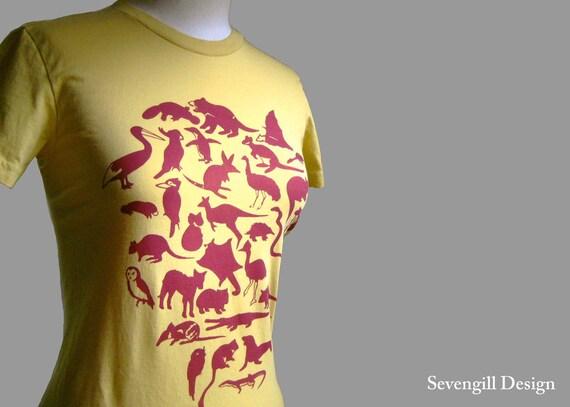 Animals of Australia T Shirt Women's Organic