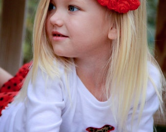 SALE--Red Shabby Bow--Available in OTHER Colors