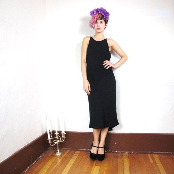 S A L E 90s Minimalist Fishtail Cocktail Dress (S/M)