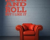 Music Wall Decal, Music Dorm Decor, Rock and Roll Decal, Typography Decor, Its Only Rock and Roll Music Lyrics, Man Cave Wall Decor