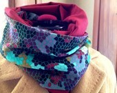 Geo Patterned Infinity Scarf