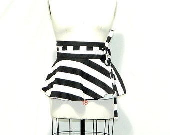 Stripes Peplum Belt Size 2 - 26