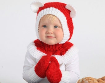 12-36months Christmas Bear Coverall Hat #164