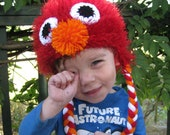 Fuzzy Elmo-inspired Hat