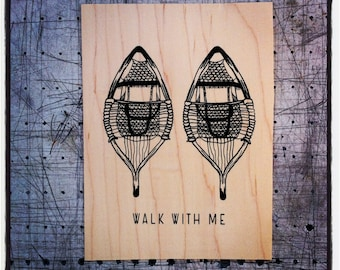Walk with me - Screen print on wood veneer // Sérigraphie sur placage de bois