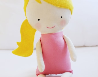 Doll Sewing Pattern Toy Cloth Doll Pattern PDF - Rosie & Lulu