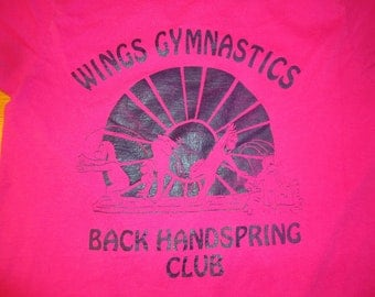 SALE! -  vintage tshirt BaCK HaNDSPRING CLuB WiNGS GYMNASTiCS 50 50 blend XL