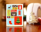 Holiday Bento Box Cards - Set of 10 Colorful Greetings with Tree, Snowman, Reindeer, and More