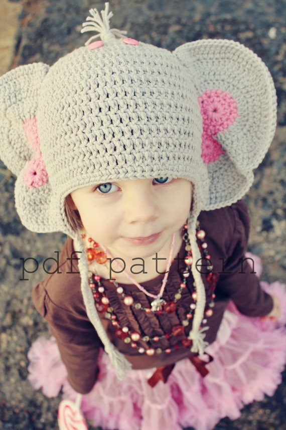 Peanuts the Elephant Crochet Hat PDF Pattern