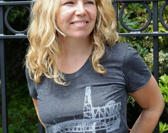 Portland Bridges Hand Screen Printed Women's Tee