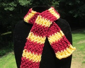 Baby Size Gryffindor Scarf, Custom Made, Free Shipping, gryffindor scarf, harry potter scarf, harrpott, hand made scarves, cosplay,