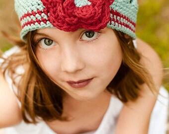 A Flower for Annabelle - Crochet Hat Pattern - Digitial Download