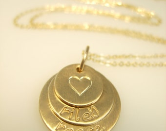 Personalized Necklace - Hand Stamped Necklace - Engraved Necklace