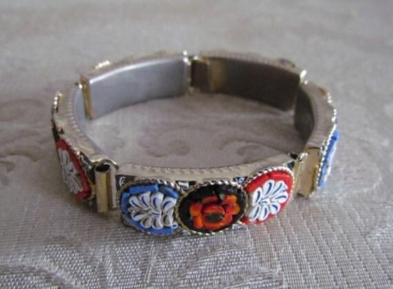 Vintage Micro Mosaic Bracelet c.1970s