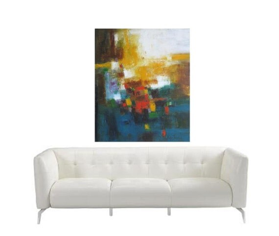 Christmas gift for Daughter from parents Large Oil Painting Abstract original painting by Toronto artist Etsy Canada