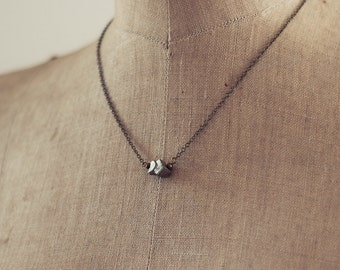 Pyxis Handmade Pyrite and Brass everyday Choker layering Necklace