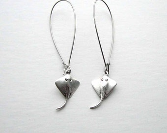 stingray earrings - choose short or long - sting ray jewelry