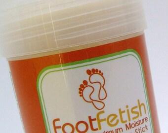 Foot Lotion Stick - Sweet Orange and Lemon Tea Tree Scent - FootFetish Maximum Moisture Lotion Stick