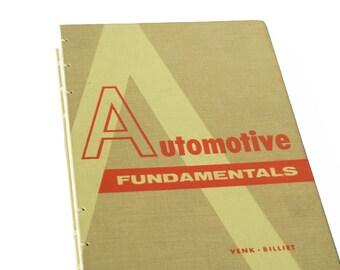 1966 AUTOMOTIVE Vintage Sketchbook Notebook Journal