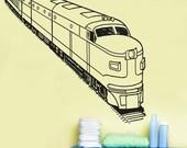 Vinyl Wall Decal Sticker Passenger Train OSAA214s