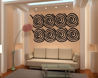 Vinyl Wall Decal Sticker Wall Swirls 1027A