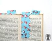 Bird bookmark - hand painted bookmark - paper bookmark - swirl birds
