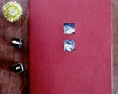 Story Poems Journal and Unblockers Writer Dice Gift Set - Dark Red Moleskine with Blue-Grey Art Insert Cyber Monday Etsy