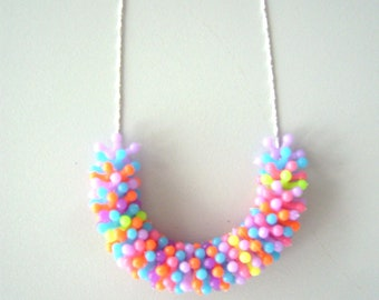 Neon colourful chunky necklace