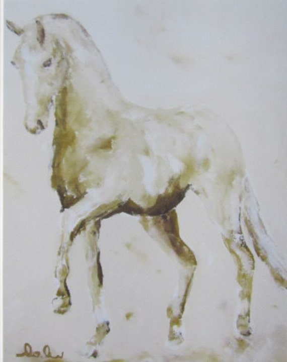 Dressage Horse  8 x 10 Giclee Print Matted to 11 x 14