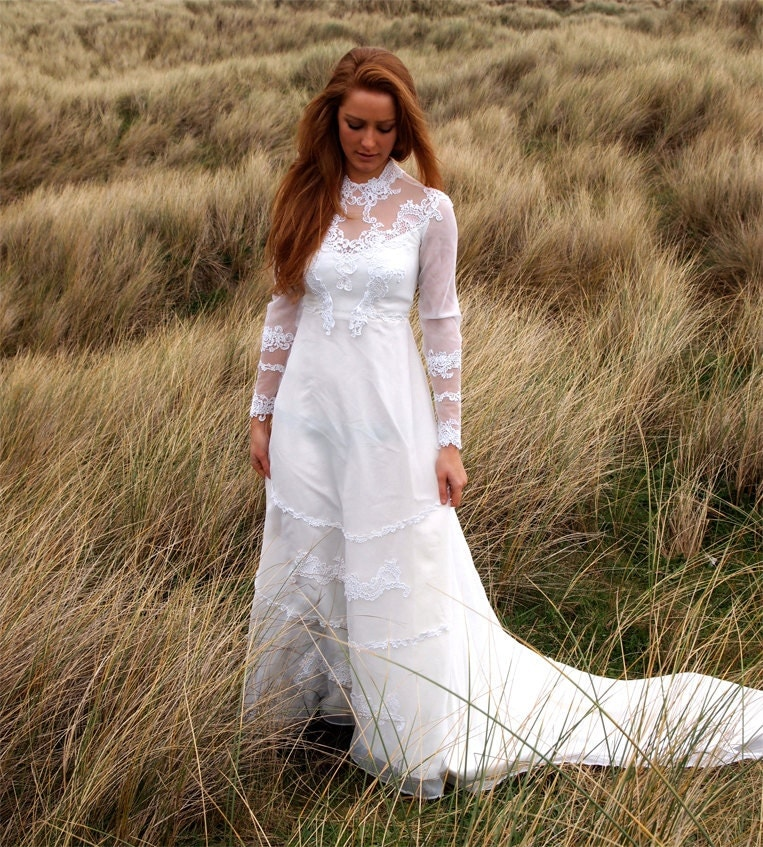 Orchid french vintage wedding dress stunning white anglais for French vintage wedding dresses