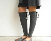 Dark Charcoal Gray T Shirt Leg Warmers / Recycled / UpCycled / Girls / Teens / Cotton / Stretch / Gift for Her Under 20 / Fall / ohzie