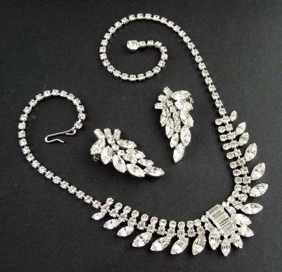 vintage b david rhinestone necklace by