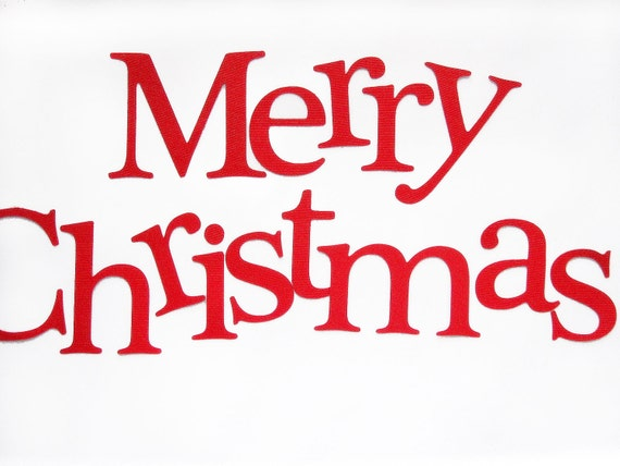 Die Cut Letters, Merry Christmas Die cut Letters, letters for Banner ...