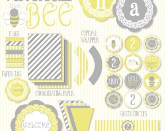 Bee Party PRINTABLE Birthday Full Collection by Love The Day