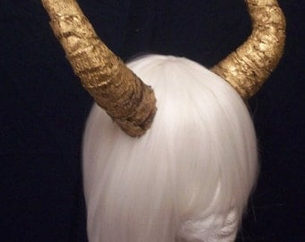 Gold Lace Demon Horns
