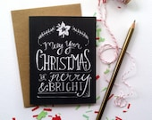 May Your Christmas be Merry and Bright-Blank Note Card