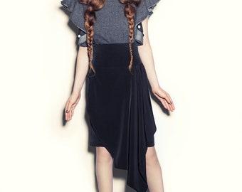 Asymmetrical Cascade Skirt