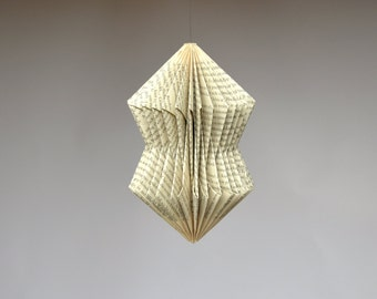 Crystal: Hanging Ornament - folded Book Art