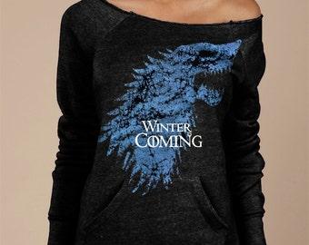 Game of Thrones Sweatshirt Winter Is Coming Sweatshirt Direwolf Sweatshirt Sansa Stark Jon Snow Sweatshirt The North Remembers Winterfell