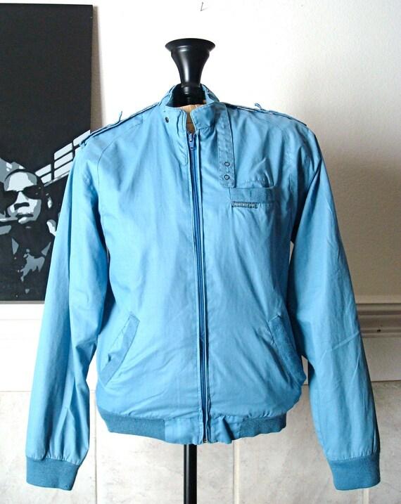 Blue Retro Windbreaker, Members Only Style